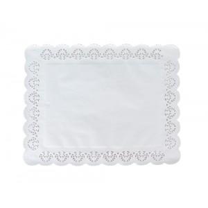 Салфетка кружевная бумажная 360х460 мм 100 шт