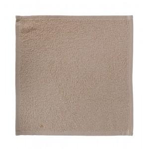 Салфетка махровая 30х30 см «Ошибори» бежевая хлопок комплект 10 шт