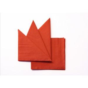 Салфетка бумажная оранжевая 240х240 мм 400 шт