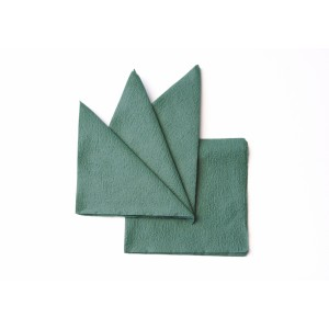 Салфетка бумажная зеленая 330х330 мм 300 шт