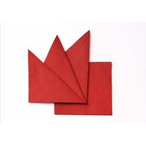 Салфетка бумажная красная 330х330 мм 300 шт