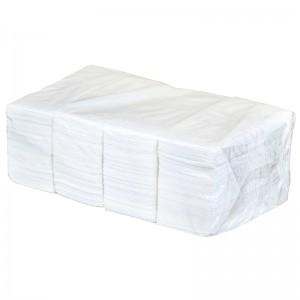 Салфетки бумажные двухслойные 330х330 мм, 1/8 сложение (белые)