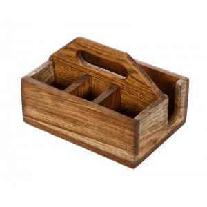 Ящик для сервировки 210х150 мм деревянный с ручкой