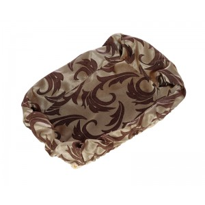 Чехол для корзинки пластиковой прямоугольной Мати коричневый с золотом