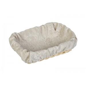 Чехол для корзинки пластиковой прямоугольной серый вензель