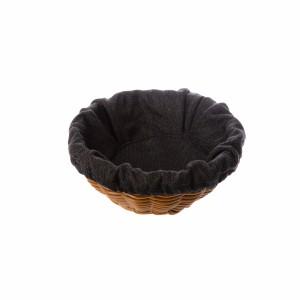 Чехол для корзинки пластиковой круглой рогожка черный