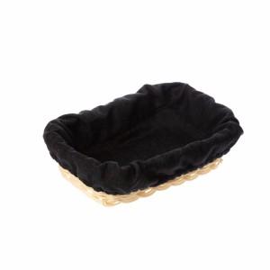 Чехол для корзинки пластиковой прямоугольной рогожка черный
