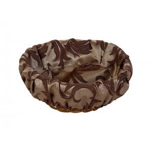 Чехол для корзинки пластиковой круглой Мати коричневая с золотом