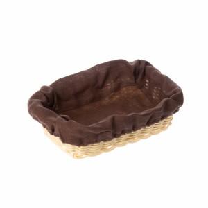 Чехол для корзинки пластиковой коричневый лен