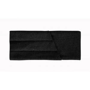 Куверт рогожка черный на 3 столовых прибора правый