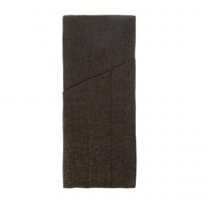 Куверт рогожка шоколад на 3 столовых прибора правый цвет 55