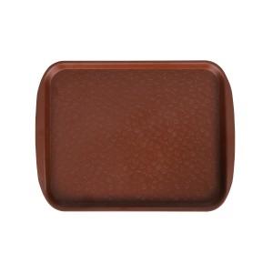 Поднос столовый 415х305 мм с ручками коричневый