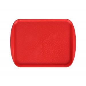 Поднос столовый 415х305 мм с ручками красный