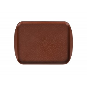 Поднос столовый 330х260 мм коричневый