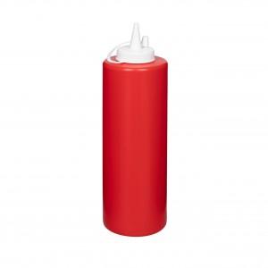 Бутылка для соуса красная (соусник) 700 мл