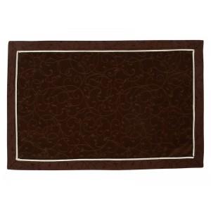 Плейсмет «Ричард ажур» коричневый с бежевой отделкой 30х45 см