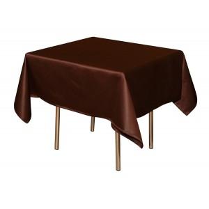 Скатерть 145х145 см «Журавинка» коричневая (гладь)