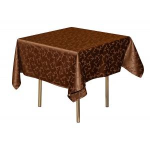 Скатерть 145х195 см «Журавинка» коричневая (вензель)