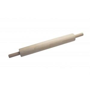 Скалка с вращающимися ручками 500х70 мм, бук