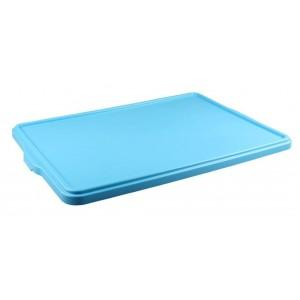 Крышка для лотка для теста 665х440х28 мм голубой ПП
