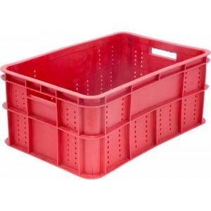 Ящик 600х400х250(260) мм перфорированные бока сплошное дно, колбасный, ПЭНД [ЯК-253]