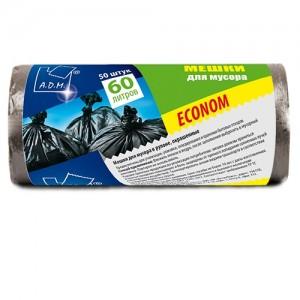 Пакет для мусора 60 л в рулонах, ПНД 60х70 см [PRO965C]