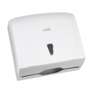 Диспенсер для листовых полотенец Z/V, бело-серый [К40]
