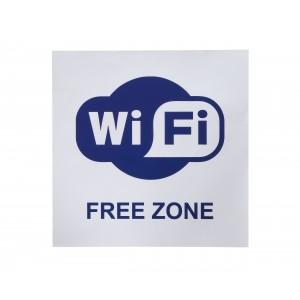 Информационная наклейка Wi-Fi 200х200 мм
