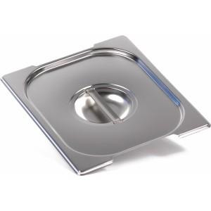 Крышка Luxstahl из нержавеющей стали для GN 1/2 с ручками [812-L]