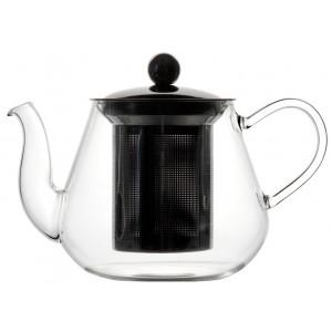 Чайник из боросиликатного стекла с нержавеющим фильтром 900 мл