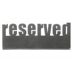 Табличка настольная «Reserved 2» Luxstahl 140х50 мм
