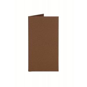 Папка-счет 220х120 мм, цвет коричневый