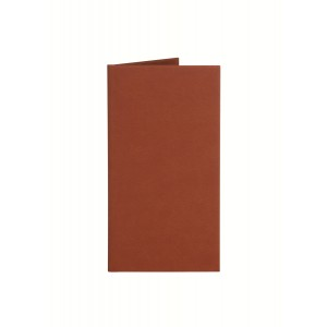 Папка-счет 220х120 мм Soft-touch, цвет: светло-коричневый