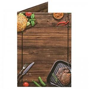 Папка для счетов «Бургер» из кашированного картона