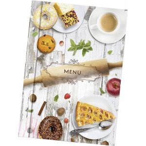 Папка для меню «Скалка» из кашированного картона