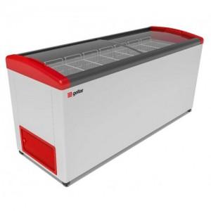 Ларь морозильный Gellar Фростор FG 700 Е гнутое стекло 7 корзин