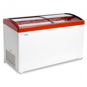 Ларь морозильный Снеж МЛГ-500 гнутое стекло