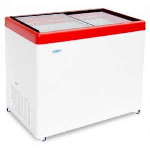 Ларь морозильный Снеж МЛП-400 прямое стекло