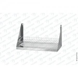 Полка для сушки посуды ПСПб - 600*300*300 Base с сеткой под стаканы