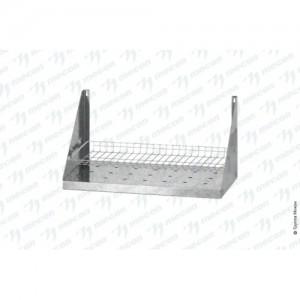 Полка для сушки посуды ПСПб - 600*300*300 Base с сеткой под стаканы, перфорировання