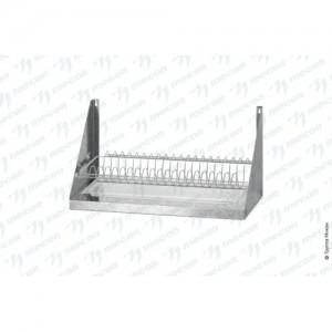Полка для сушки посуды ПСПб - 600*300*300 Base с сеткой под тарелки