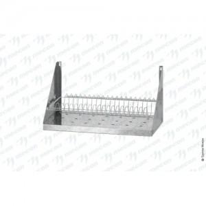 Полка для сушки посуды ПСПб - 600*300*300 Base с сеткой под тарелки, перфорировання