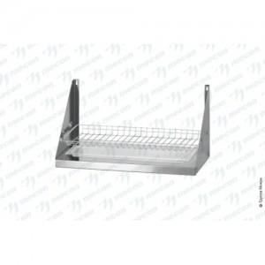 Полка для сушки посуды ПСПн - 600*300*300 Norma Inox с сеткой под стаканы